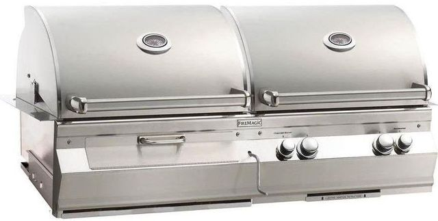 Fire Magic® Aurora Collection A830i Series Built In Combo Grill-Stainless Steel-A830i-6EAP-CB
