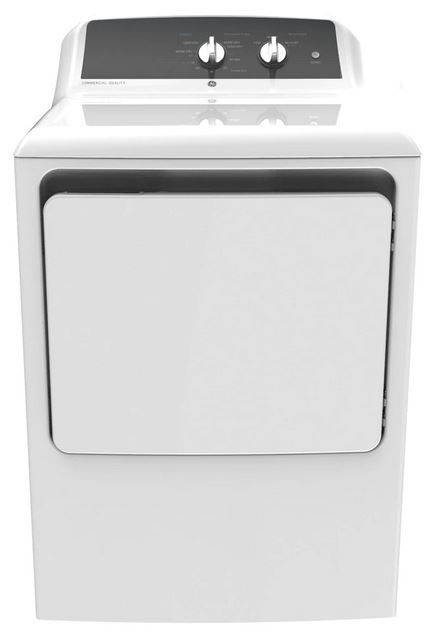 GE® 6.2 Cu. Ft. White Front Load Electric Dryer-GTX52EASPWB