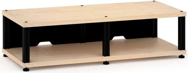 Salamander Designs® Synergy Twin 10 AV Cabinet-Natural Maple/Black-SN10M/B