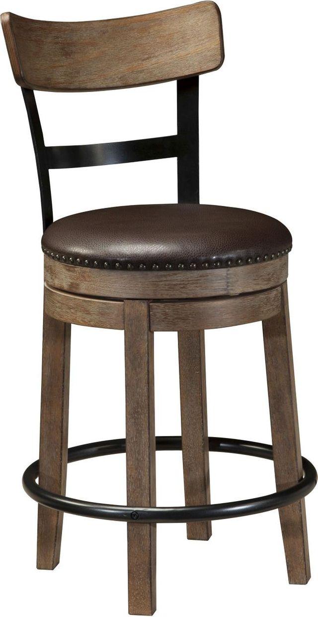 Signature Design by Ashley® Pinnadel Light Brown Upholstered Swivel Barstool-D542-124