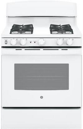 """GE® 30"""" Free Standing Gas Range-White-JGB450DEKWW"""