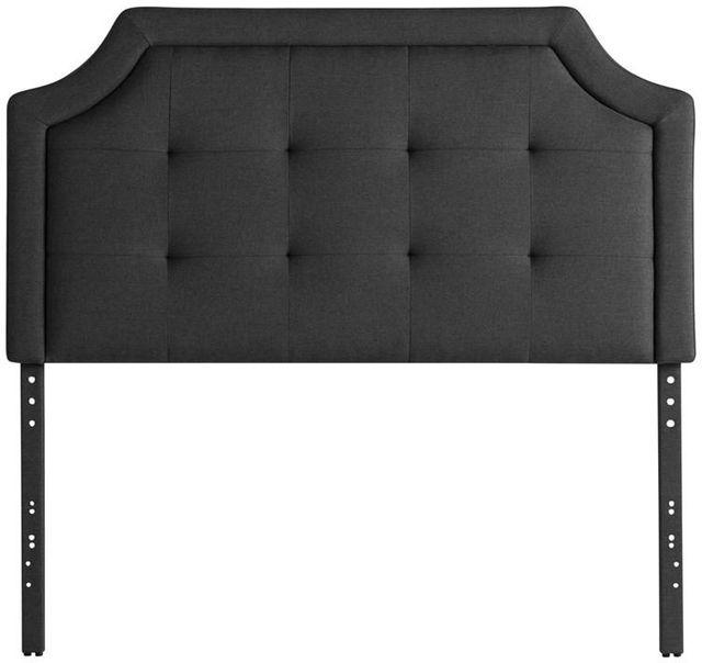 Malouf® Sleep Carlisle Charcoal Twin Headboard-STTTCHCARLHB