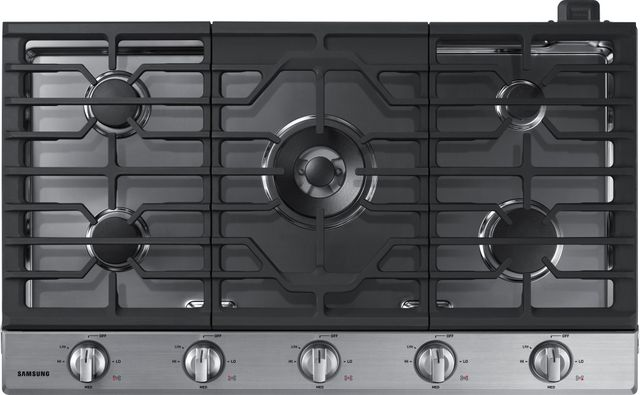 """Samsung 36"""" Gas Cooktop-Stainless Steel-NA36N6555TS"""