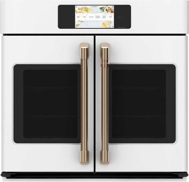 """Café™ Professional Series 30"""" Matte White Smart Built In Convection French Door Single Wall Oven-CTS90FP4NW2"""