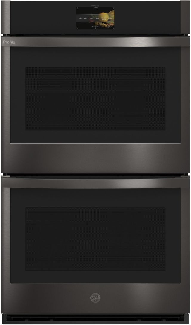 """GE Profile™ 29.75"""" Black Stainless Steel Built-In Convection Double Wall Oven-PTD7000BNTS"""
