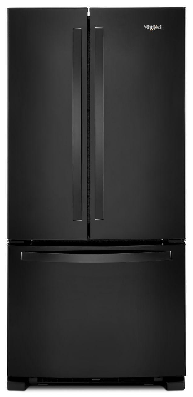 Whirlpool® 22.11 Cu. Ft. Wide French Door Refrigerator-Black-WRF532SMHB