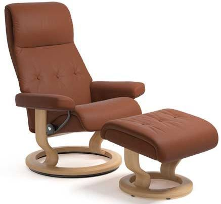 Stressless® by Ekornes® Sky Medium Classic Base Chair and Ottoman-1332015