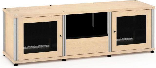 Salamander Designs® Synergy Model 236 AV Cabinet-Natural Maple/Aluminum-SB236M/A