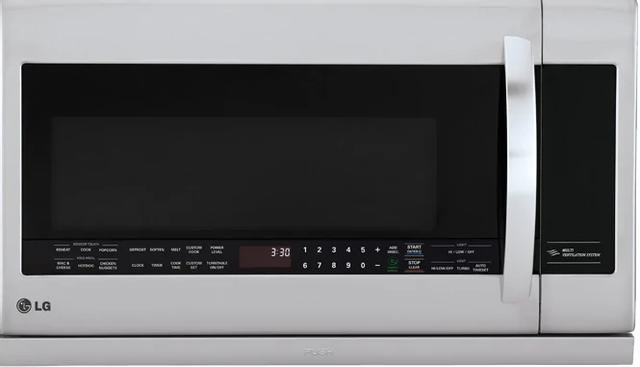 Four à micro-ondes à hotte intégrée LG® de 2,2 pi³ de 30 po - Acier inoxydable-LMV2257ST