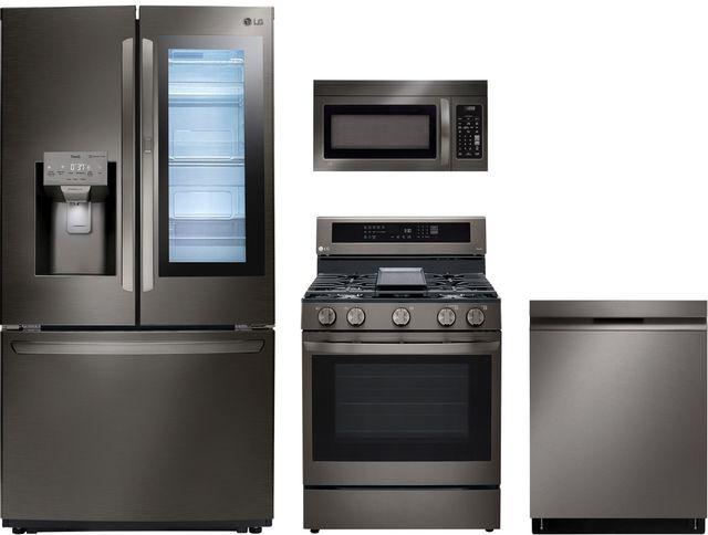 LG 4 Piece Black Stainless Steel Kitchen Package-LGKITLDP6810BD