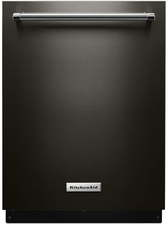 """KitchenAid® 24"""" Black Stainless Steel with PrintShield™ Finish Built In Dishwasher-KDTE234GBS"""