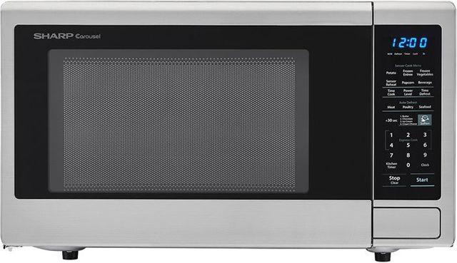 Sharp® Carousel® Countertop Microwave Oven-Stainless Steel-SMC1842CS
