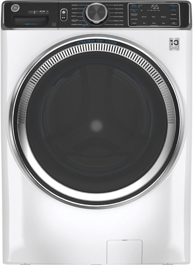 GE® 5.0 Cu. Ft. White Smart Front Load Washer-GFW850SSNWW