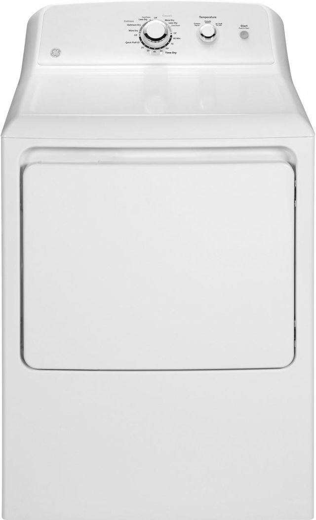 GE® Front Load Gas Dryer-White-GTX33GASKWW