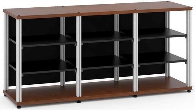 Salamander Designs® Synergy Triple 30 AV Cabinet-Dark Cherry/Aluminum-SL30C/A