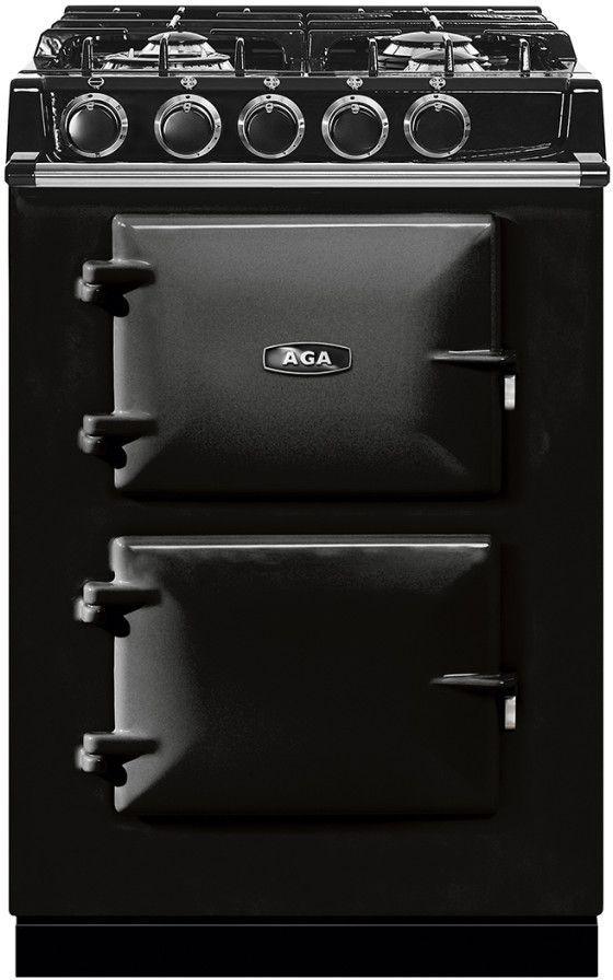 "AGA 24"" Black Dual Fuel Range-ATC2DF-BLK"