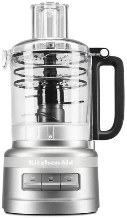 KitchenAid® 9 Cup Contour Silver Food Processor Plus-KFP0919CU