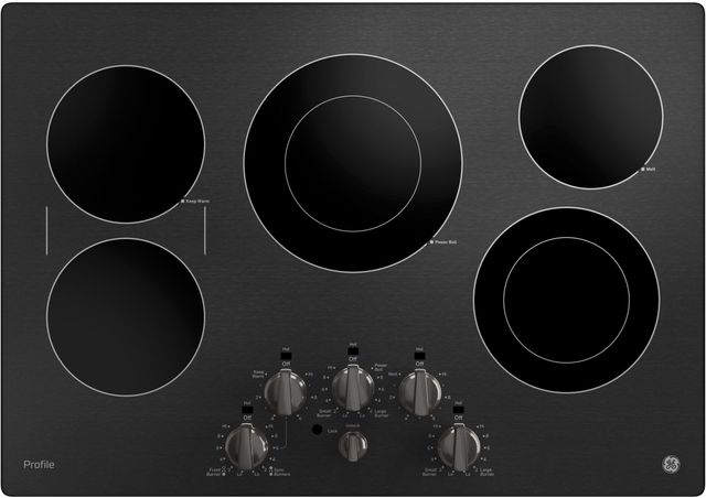 """GE Profile™ 30"""" Black Stainless Steel Electric Cooktop-PP7030BMTS"""