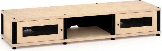 Salamander Designs® Synergy Model 132 AV Cabinet-Natural Maple/Black-SB132M/B