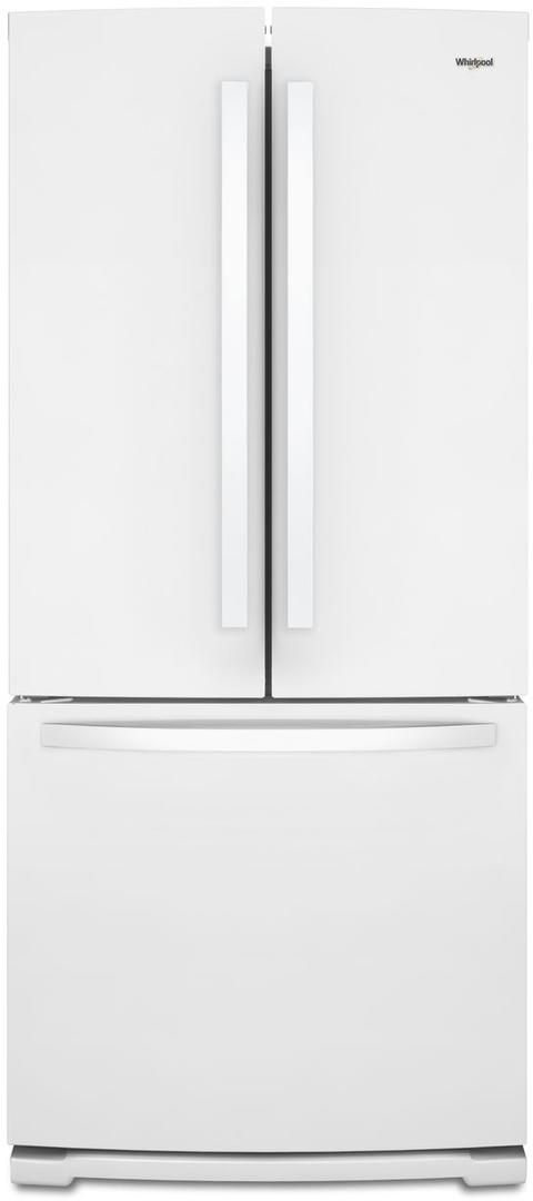 Whirlpool® 19.68 Cu. Ft. French Door Refrigerator-White-WRF560SMHW