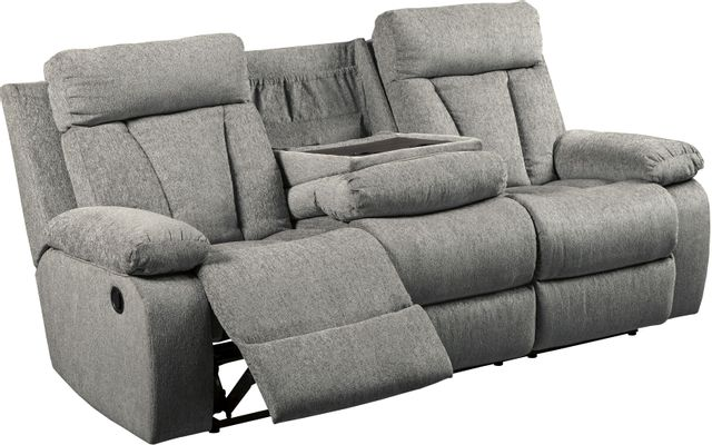 Signature Design by Ashley® Mitchiner Fog Reclining Sofa with Drop Down Table-7620489