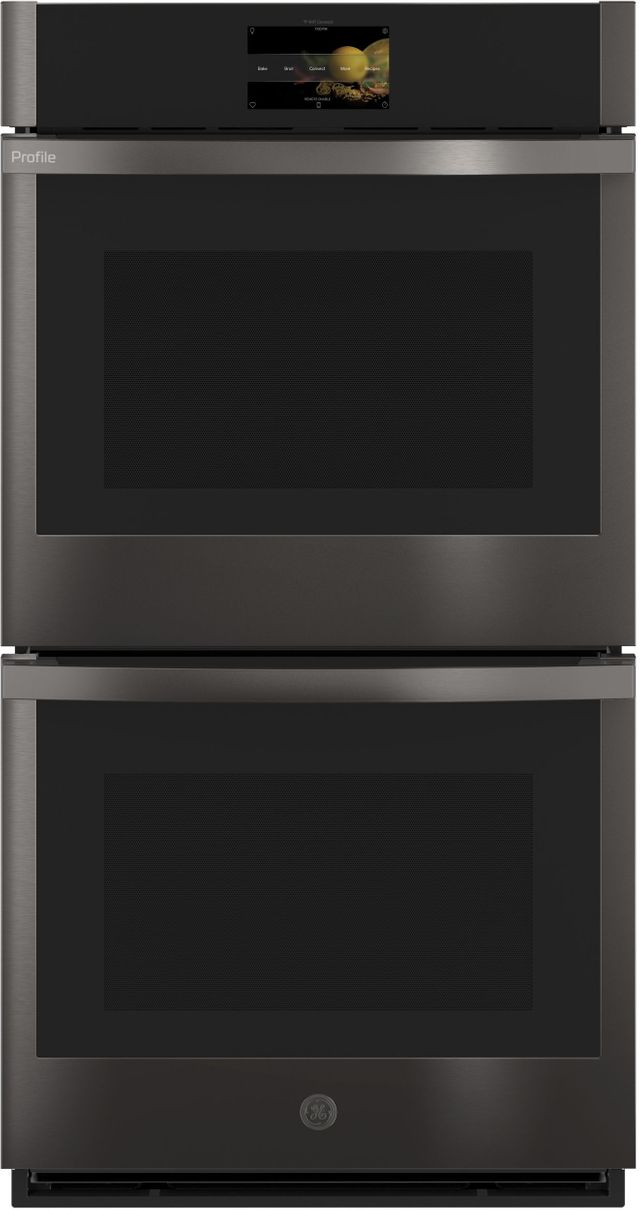 """GE Profile™ 26.75"""" Black Stainless Steel Electric Built-In Double Oven-PKD7000BNTS"""