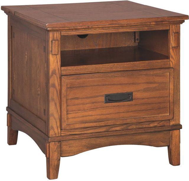 Signature Design by Ashley® Cross Island Medium Brown Rectangular End Table-T719-3