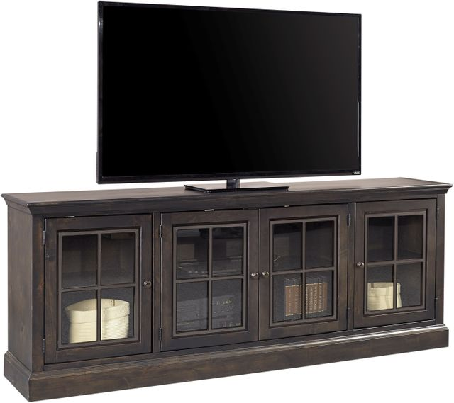 """Aspenhome™ Churchill Ghost Black 84"""" Console with 4 Doors-DR1260-GHT"""