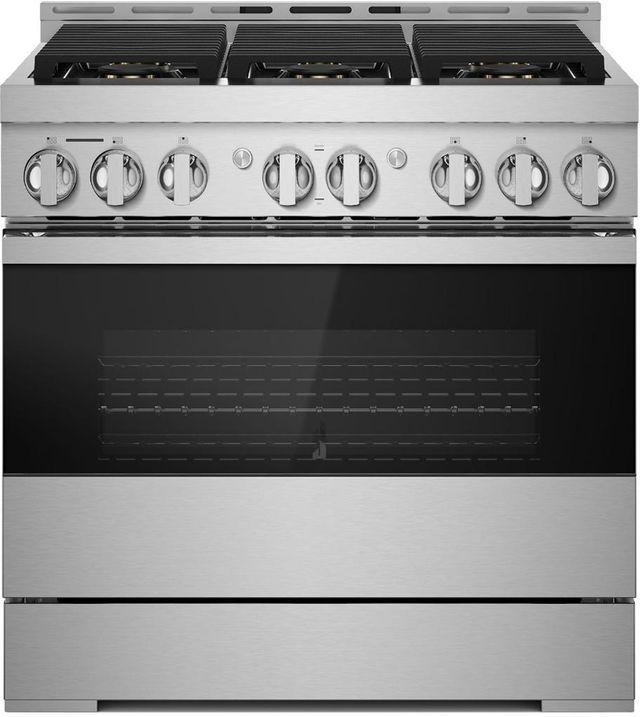"""JennAir® NOIR™ 36"""" Stainless Steel Pro Style Gas Range-JGRP436HM"""