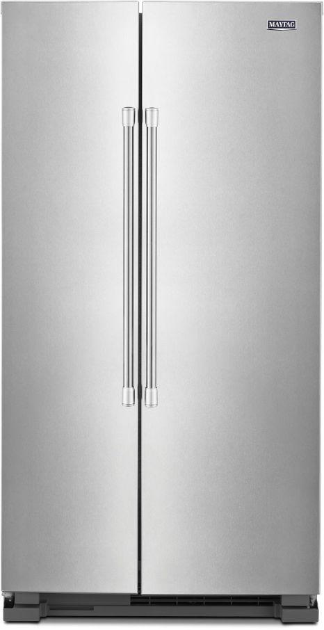 Maytag® 24.93 Cu. Ft. Fingerprint Resistant Stainless Steel Side-by-Side Refrigerator-MSS25N4MKZ