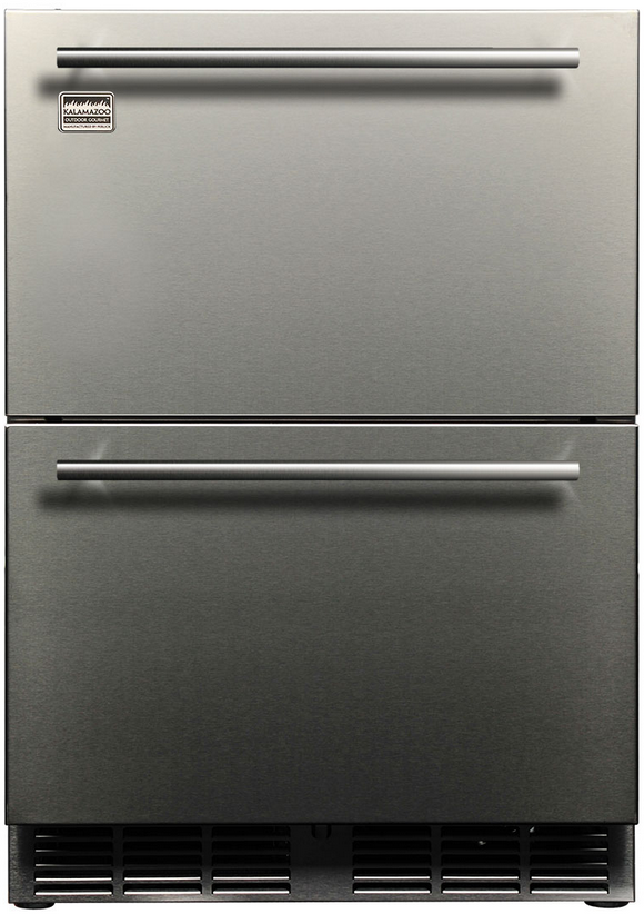 Kalamazoo Outdoor Gourmet 5.3 Cu. Ft. Outdoor Refrigerator Drawers-Stainless Steel-K-HP24RO-5