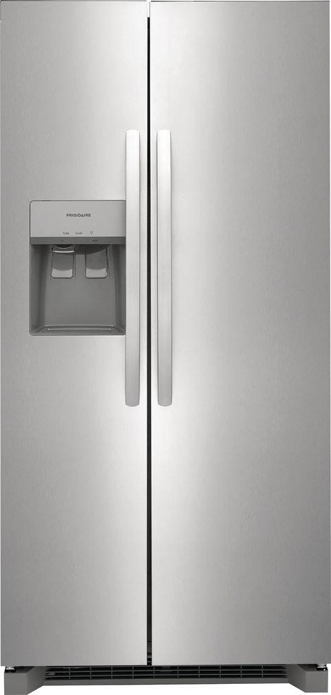 Frigidaire® 22.2 Cu. Ft. Stainless Steel Standard Depth Side-by-Side Refrigerator-FRSS2323AS