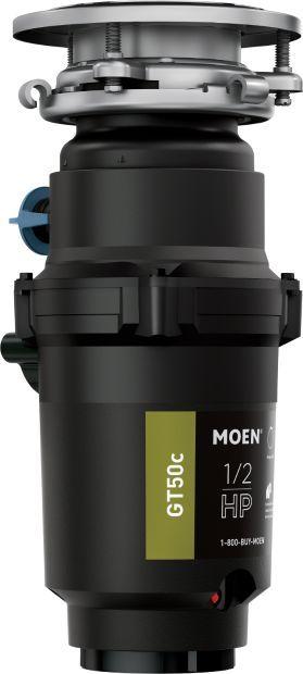 Moen® GT Series 0.5 HP Continuous Feed Black Garbage Disposal-GT50C