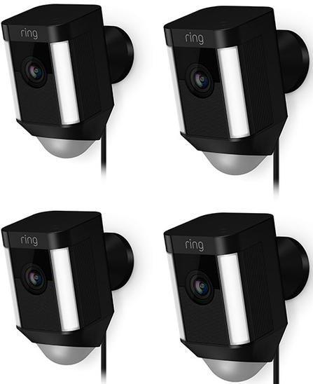 Ring 4 Pack Black Spotlight Cam Wired-4759792943135