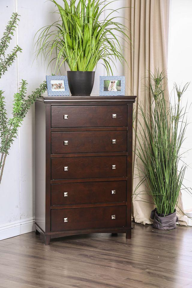 Furniture of America® Spruce Brown Cherry Chest-CM7113CH-C