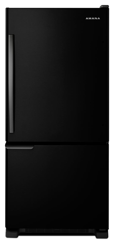 Amana® 18.67 Cu. Ft. Black Bottom Freezer Refrigerator-ABB1921BRB
