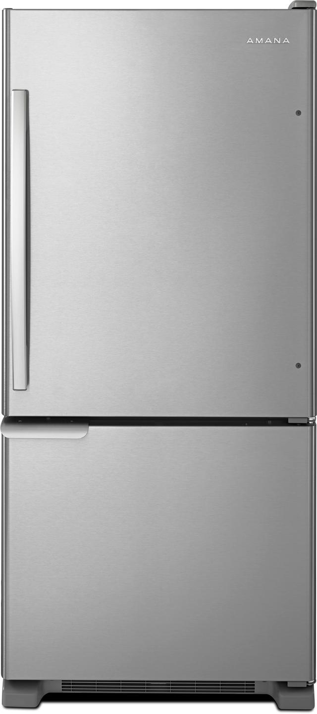 Amana® 18.67 Cu. Ft. Stainless Steel Bottom Freezer Refrigerator-ABB1921BRM