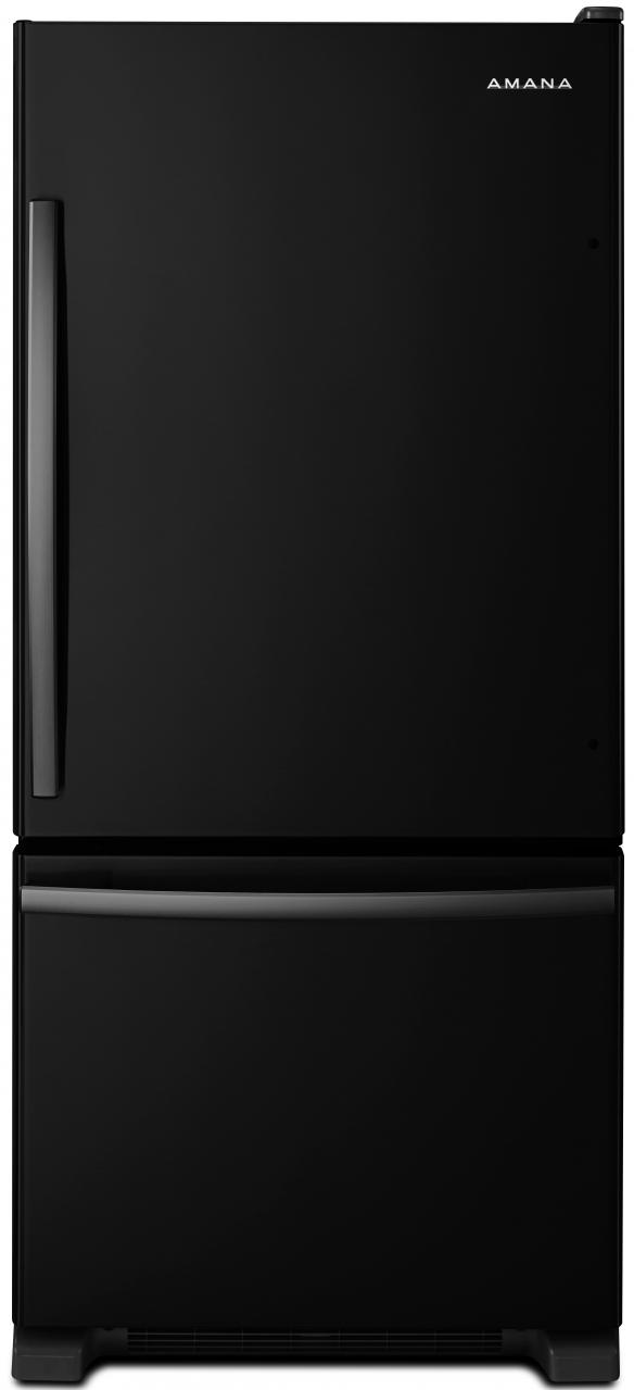 Amana® 18.67 Cu. Ft. Black Bottom Freezer Refrigerator-ABB1924BRB