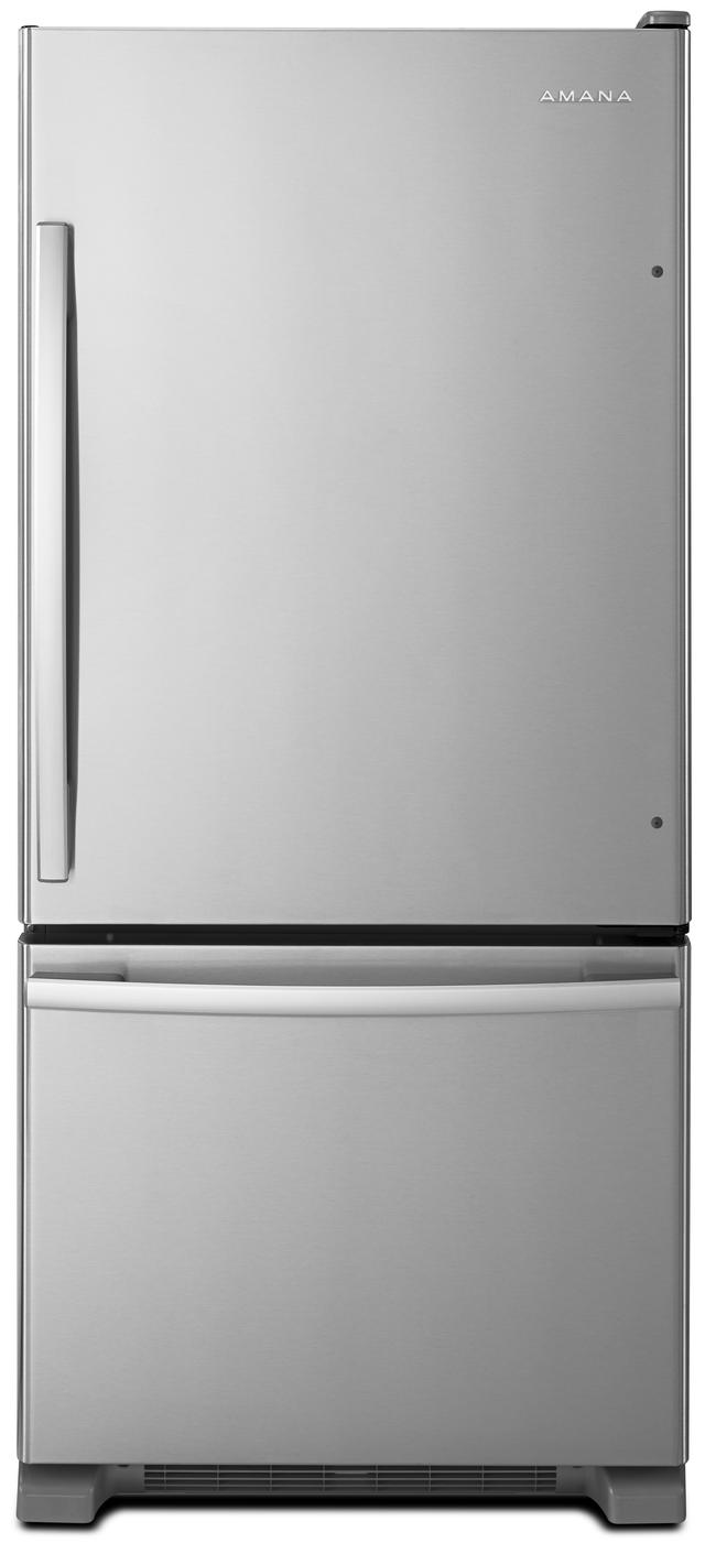 Amana® 18.67 Cu. Ft. Stainless Steel Bottom Freezer Refrigerator-ABB1924BRM