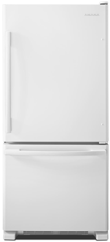 Amana® 18.67 Cu. Ft. White Bottom Freezer Refrigerator-ABB1924BRW