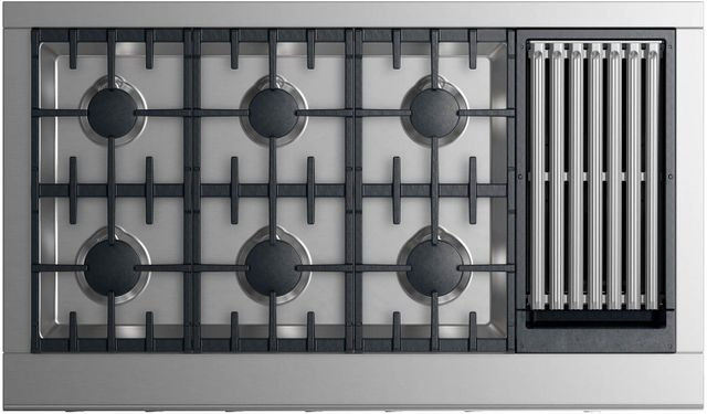 """Fisher Paykel Professional 48"""" Gas Rangetop-Stainless Steel-CPV2-486GLL N"""