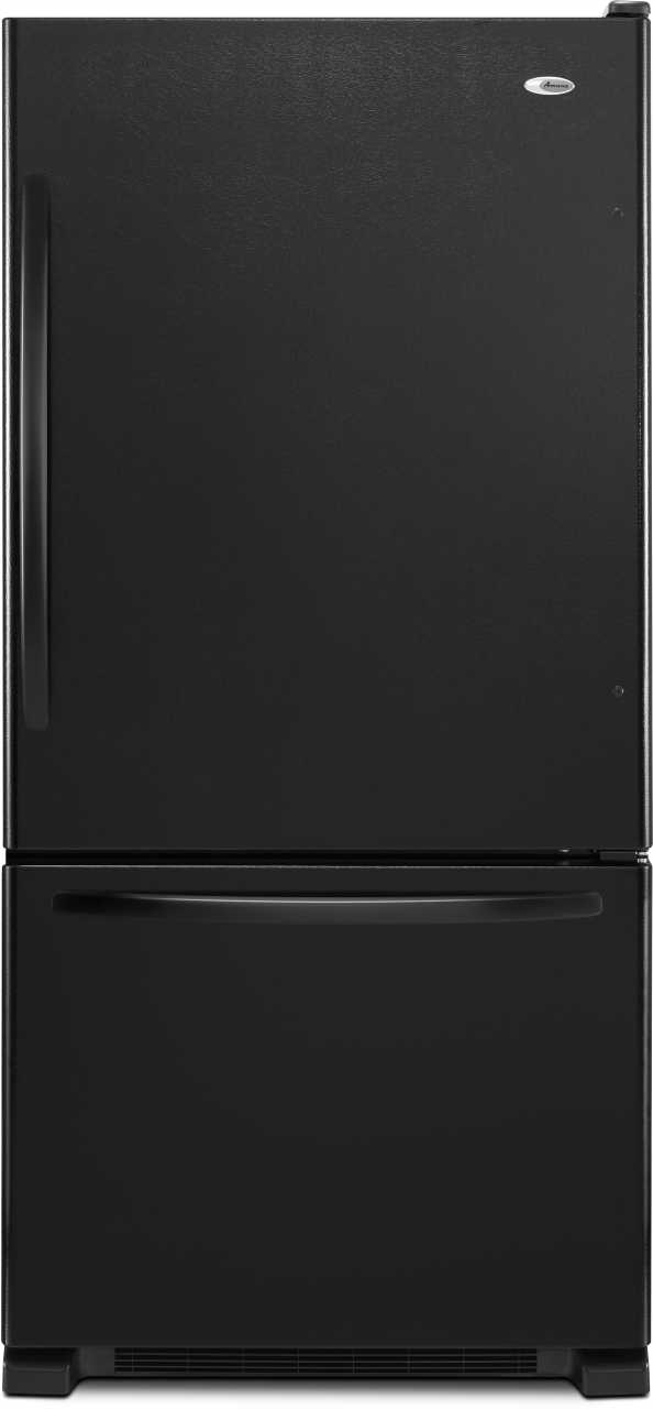 Amana® 22.07 Cu. Ft. Black Bottom Freezer Refrigerator-ABB2224BRB