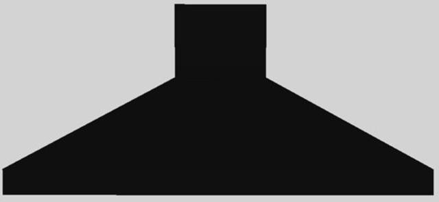 """Vent-A-Hood® 66"""" Euro-Style Island Range Hood-Black-EPITH18-466 BL"""