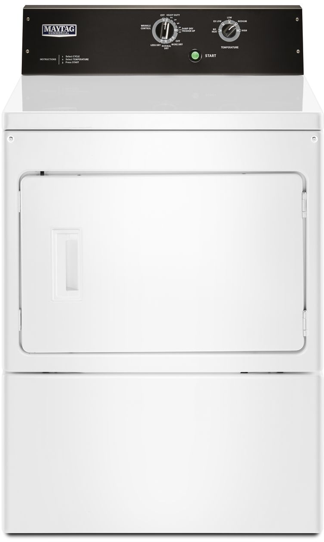 Maytag Commercial® 7.4 Cu. Ft. White Front Load Gas Dryer-MGDP575GW