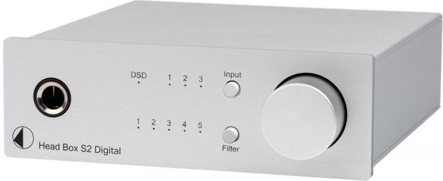 Pro-Ject S2 Line Silver High Performance DAC and Headphone Amplifier-Head Box S2 Digital-SV