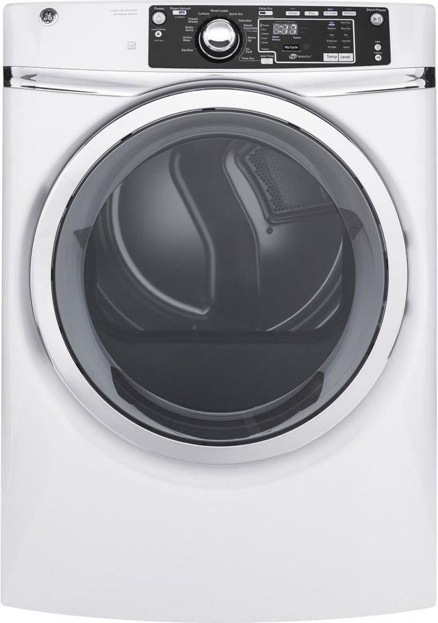 GE® Front Load Electric Dryer-White-GFD48ESSKWW