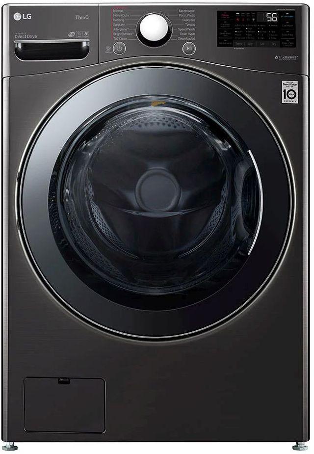 LG 4.5 Cu. Ft. Black Steel Front Load Washer & Dryer Combos-WM3998HBA