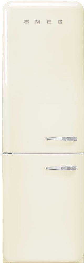 Smeg 50's Retro Style Aesthetic 11.69 Cu. Ft. Cream Bottom Freezer Refrigerator-FAB32ULCR3