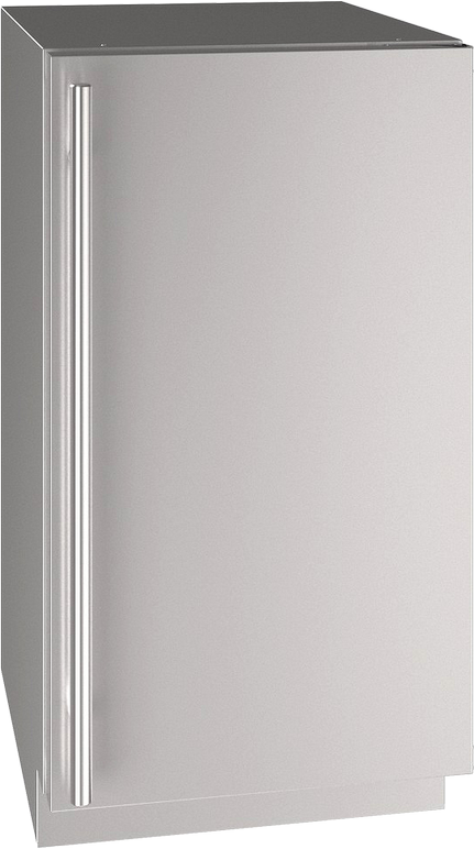 """U-Line® 18"""" Stainless Steel Compact Refrigerator-UHRE518-SS01A"""