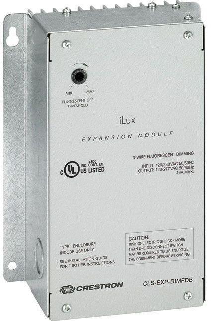 Crestron® iLux® 3-Wire Fluorescent Dimmer Expansion Module-CLS-EXP-DIMFDB